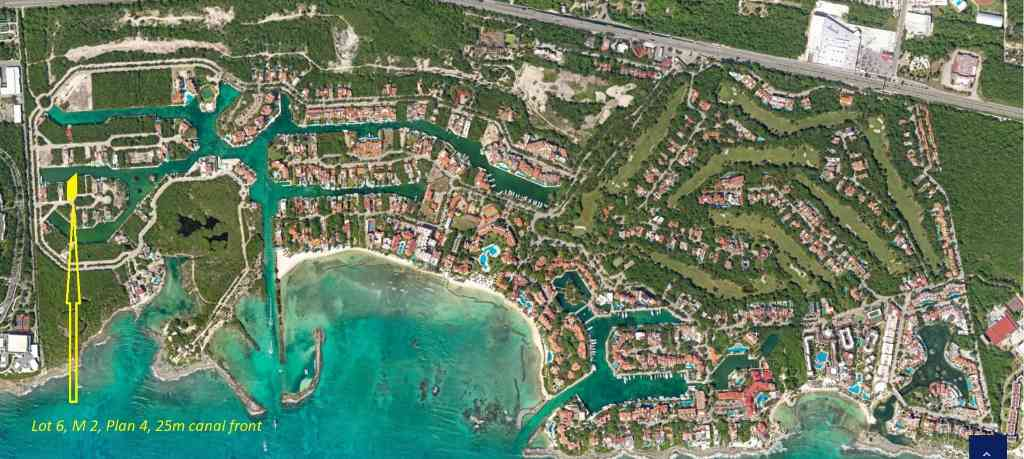Land plot with pier for sale in Puerto Aventuras