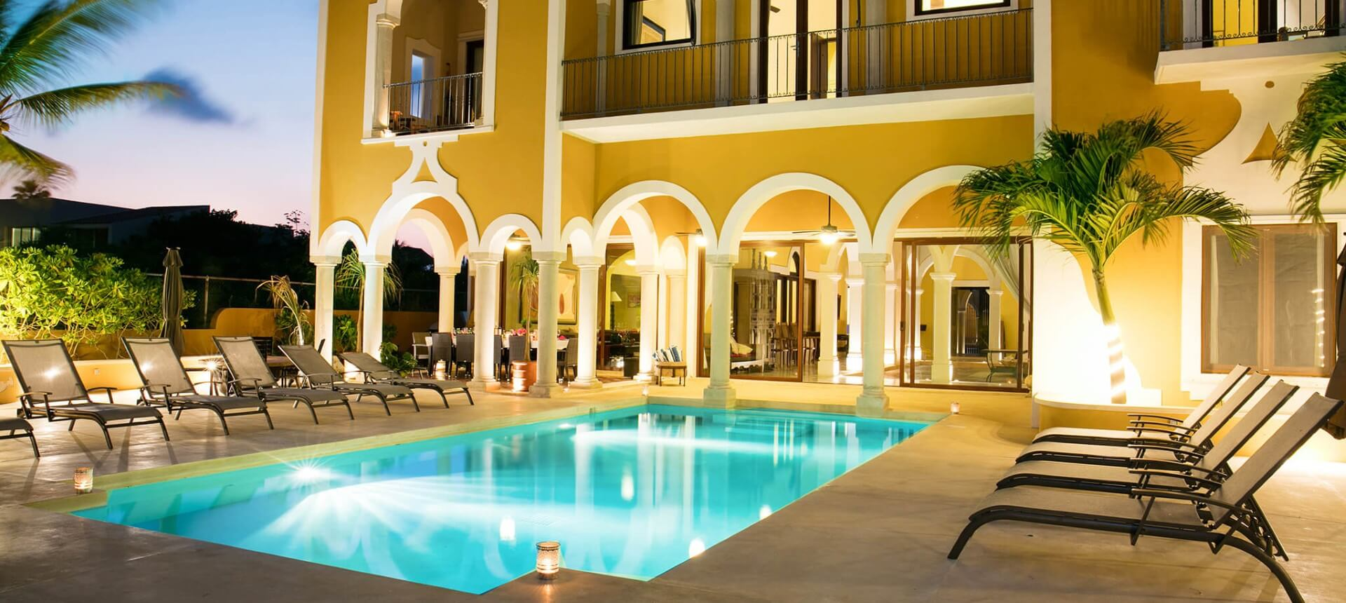 Luxury villa HACIENDA MAGICA for rent in Puerto Aventuras