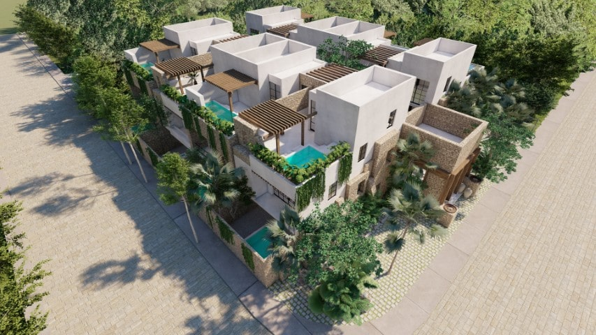 New and nice houses for sale in Aldea Zama in Tulum